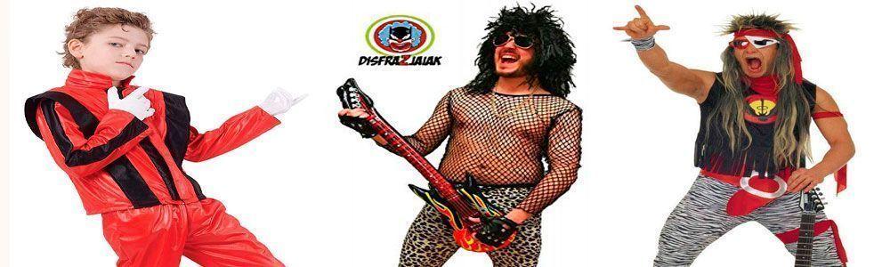 comprar difraz de hombre mujer rockeros rockeras