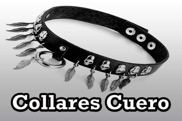 Collares Cuero Punk Pinchos