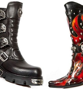 botas rockeras heavy metal